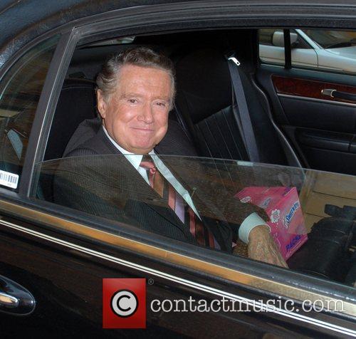 Regis Philbin leaving ABC studios in his chauffeur...
