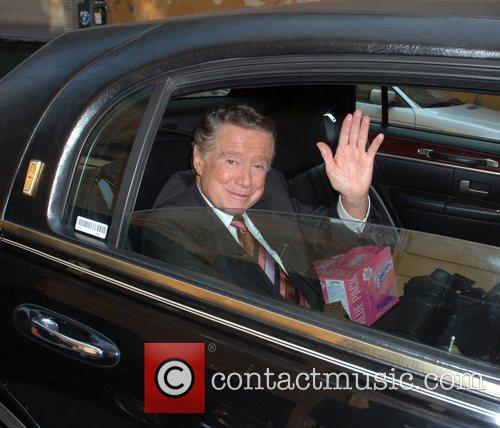 Leaving ABC studios in his chauffeur driven car