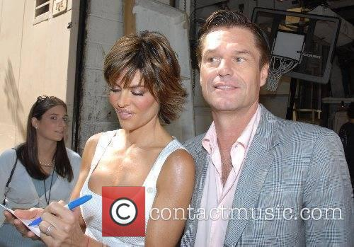 Lisa Rinna and Harry Hamlin outside ABC Studios...