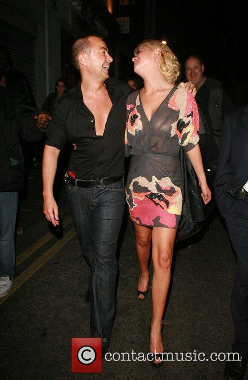 Julien MacDonald and Tara Reid leaving 24 night...
