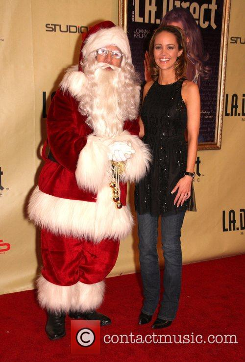 Santa Claus and April Scott 'Remember to Give'...