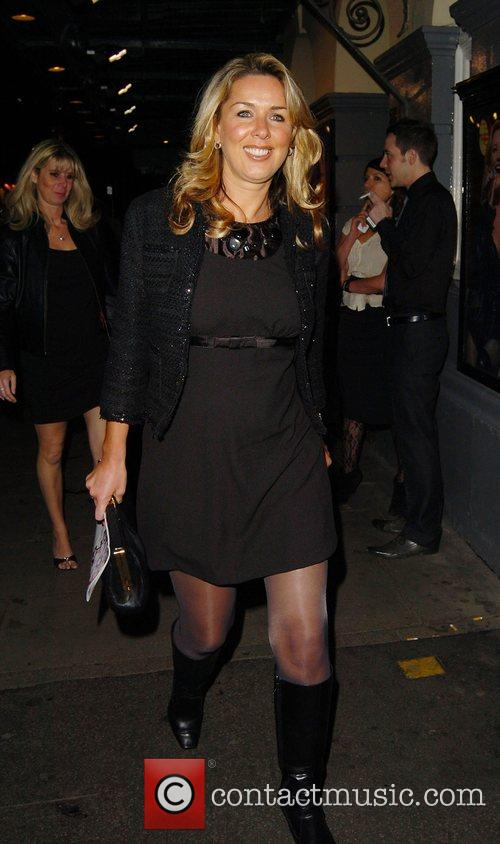 Claire Sweeney leaving the Duke of York theatre...