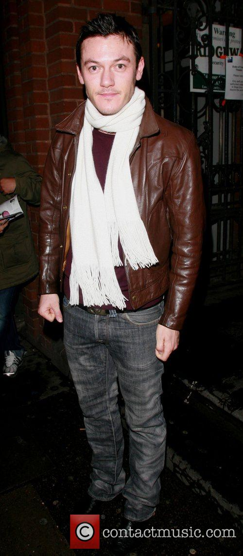 Oliver Thornton leaving the Duke of York's Theatre...