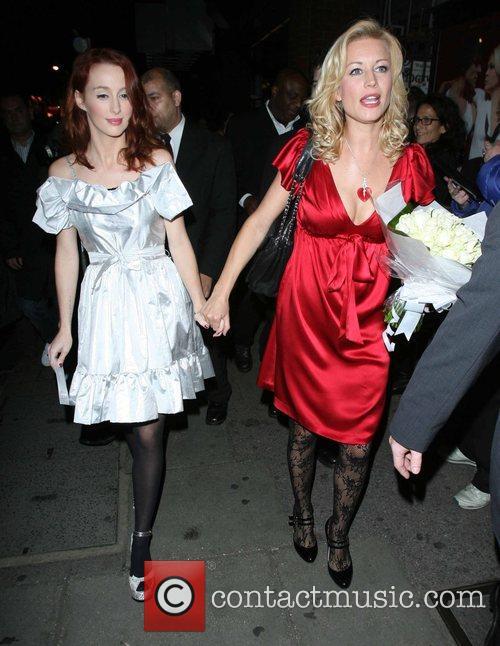 Denise Van Outen  leaving the Duke of...