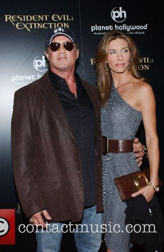 Sylvester Stallone and Jennifer Flavin World Premiere of...