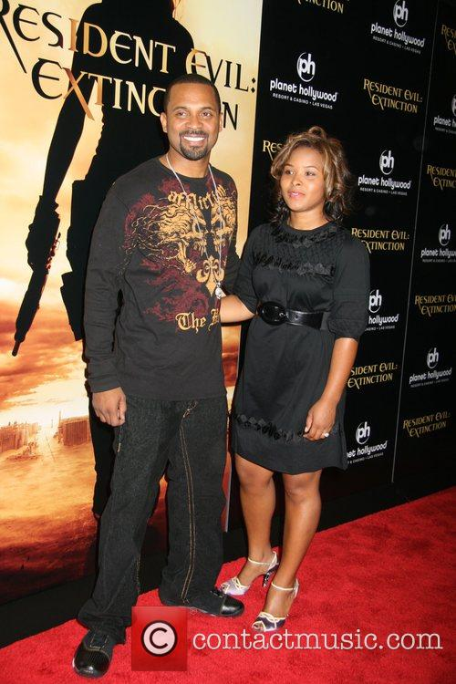 Mike Epps and Wife Resident Evil: Extinction World...
