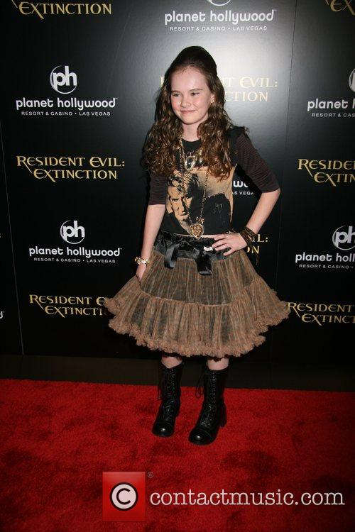 Madeline Carroll Resident Evil: Extinction World Premiere at...