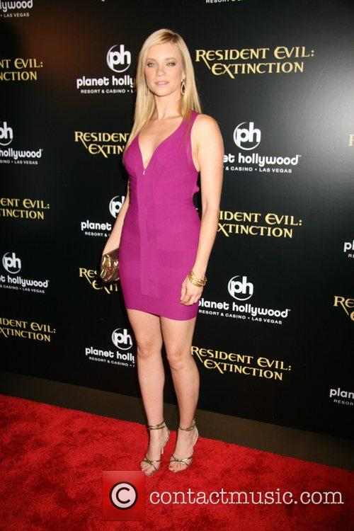 Amy Smart Resident Evil: Extinction World Premiere at...