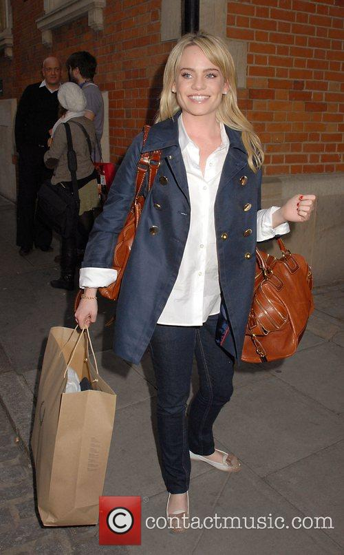 Singer Duffy leaving the launch party of London...
