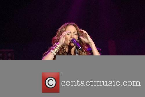 Jennifer Lopez performing at the Reventon Super Estrella...
