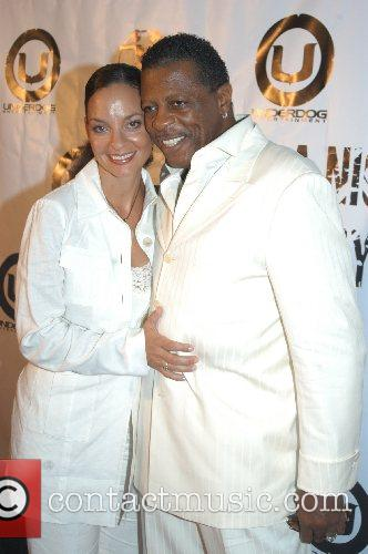 Ali Woodson of The Temptation, and wife Juanita...