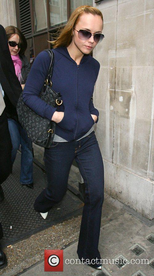 Christina Ricci leaving Radio 1 studios London, England