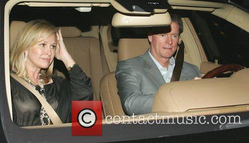 Kathy Hilton and Rick Hilton leaving Mr Chow...