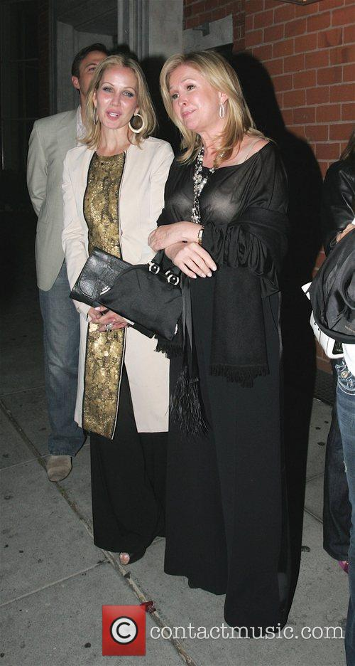 Kathy Hilton leaving Mr Chow restaurant after dining...
