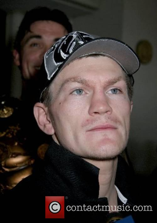 Jr. Welterweight World Champion Ricky Hatton arrival at...