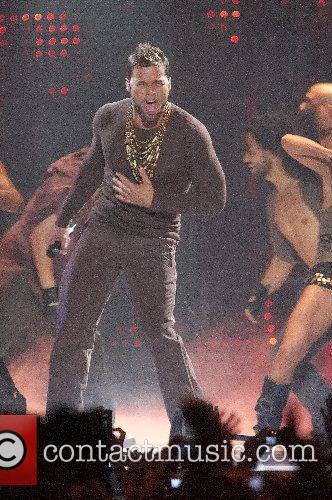 Ricky Martin performing live at Pavilhao Atlantico