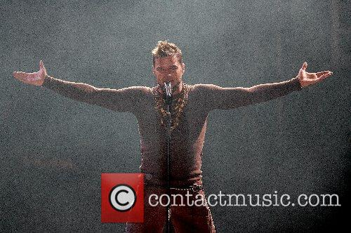 Ricky Martin performing live at Pavilhao Atlantico Lisbon,...