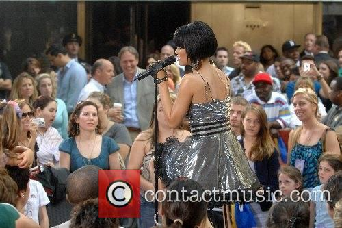 Rihanna performs live on The Today Show's Concert...