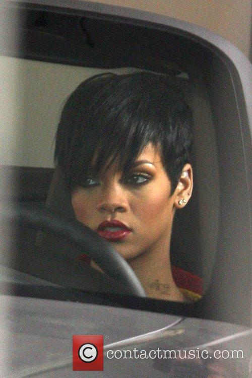 Rihanna on the set for her new music...
