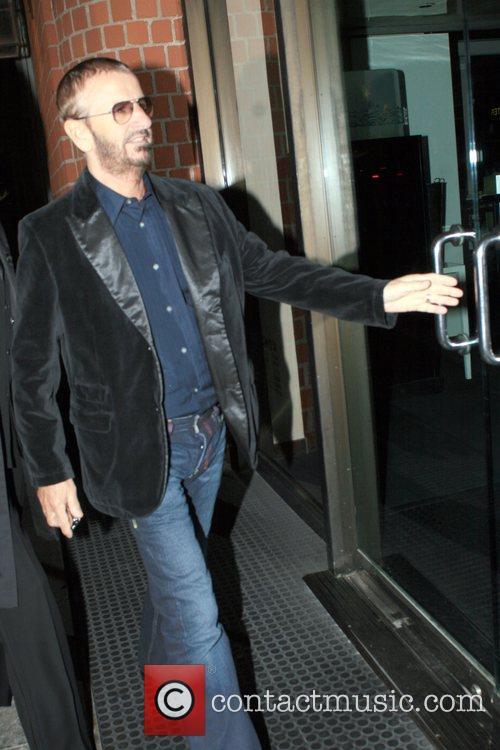 Ringo Starr arriving at Mr Chow for dinner...