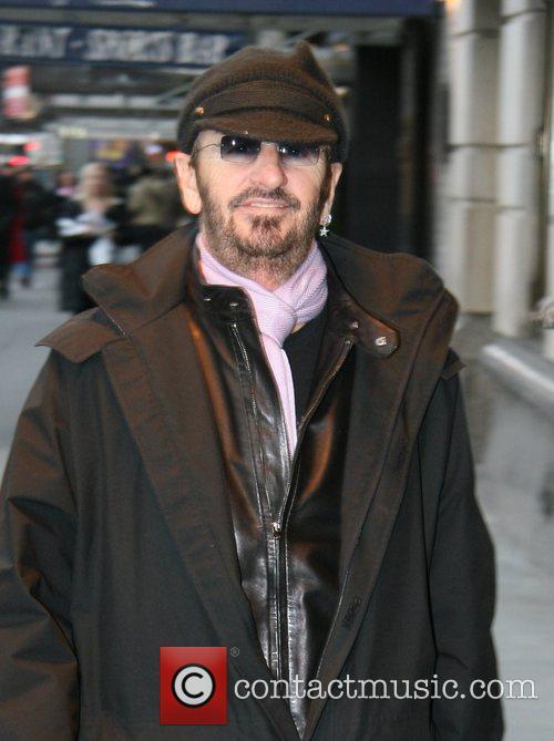 Ringo Starr arriving at his Manhattan hotel