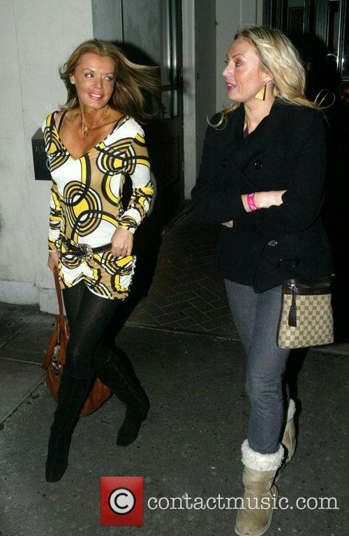 Rissy Mitchell and friend leaving the event 'Moroccan...