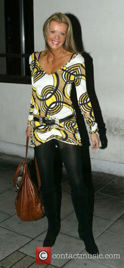 Rissy Mitchell  leaving the event 'Moroccan Mirage'...