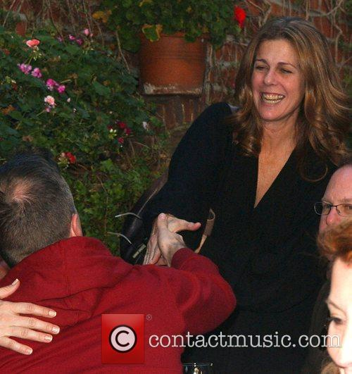 Rita Wilson leaving the Ivy restaurant in West...