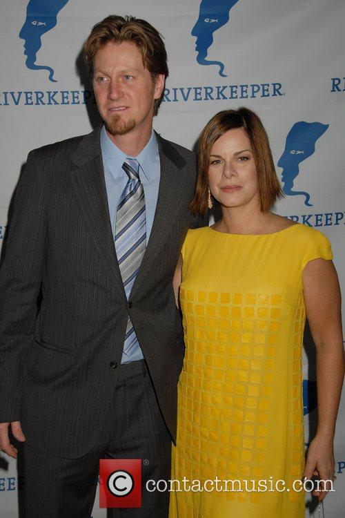 Marcia Gay Harden and guest 2008 Riverkeeper Fisherman...