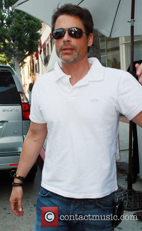 Rob Lowe leaving Mr. Chow restaurant in Beverly...