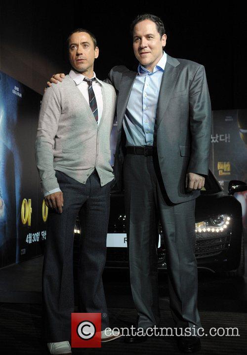 Director Jon Favreau and Robert Downey Jr...
