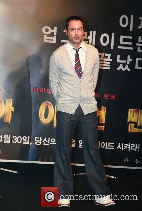Actor Robert Downey Jr  'Iron Man' Press...