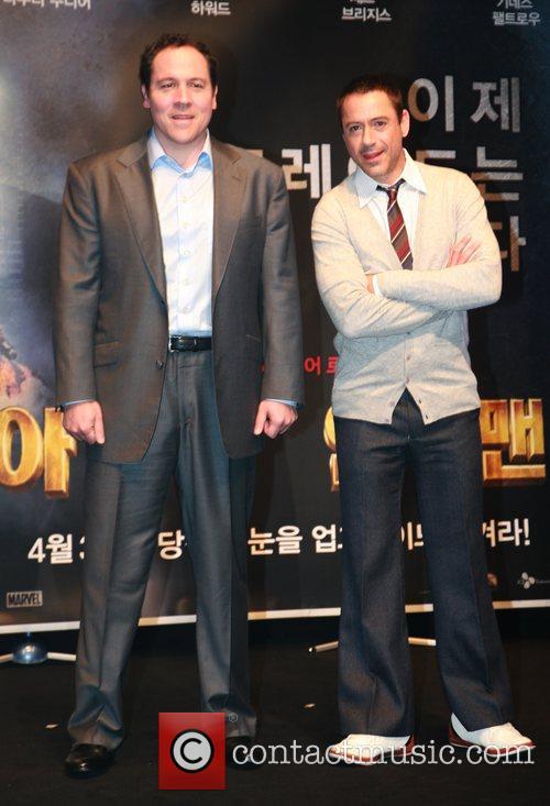 Jon Favreau and Robert Downey Jr  'Iron...