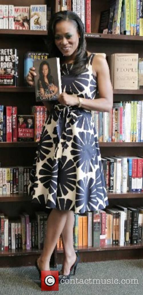 Actress Robin Givens at a book reading and...