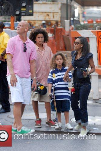 Robin Givens out and about with her family...