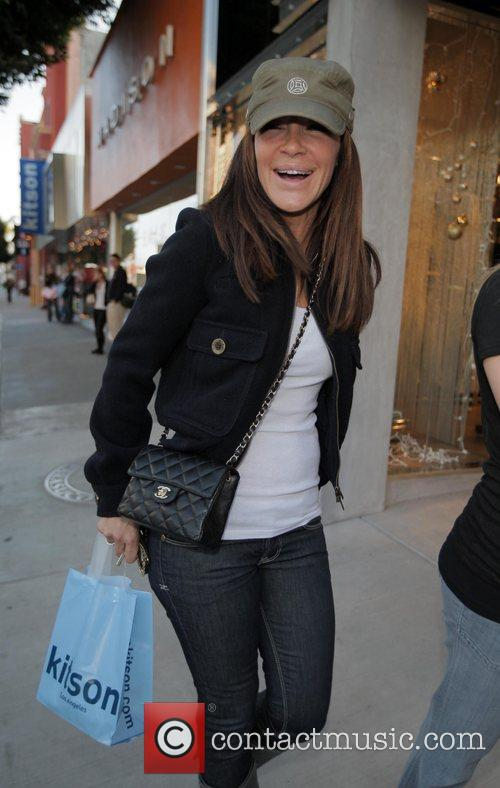 Original Pussycat Doll Robin Antin out shopping on...