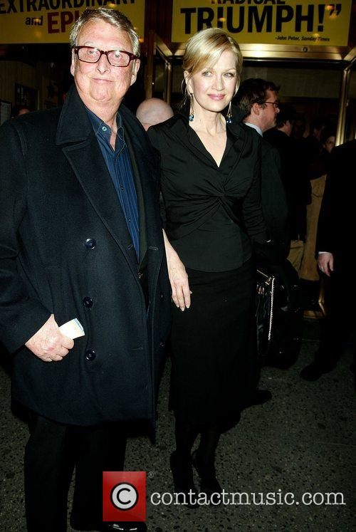 Mike Nichols and Diane Sawyer at the opening...