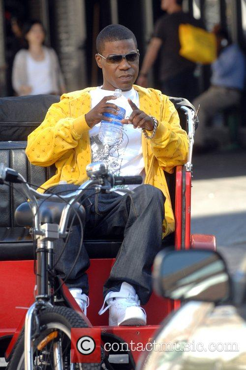 Tracy Morgan takes a break during an