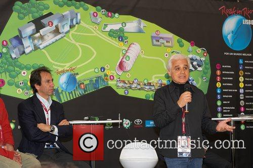 Roberto Medina, Pesident of Rock talks at the...