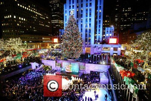 75th Rockefeller Center Christmas tree lighting ceremony. This...