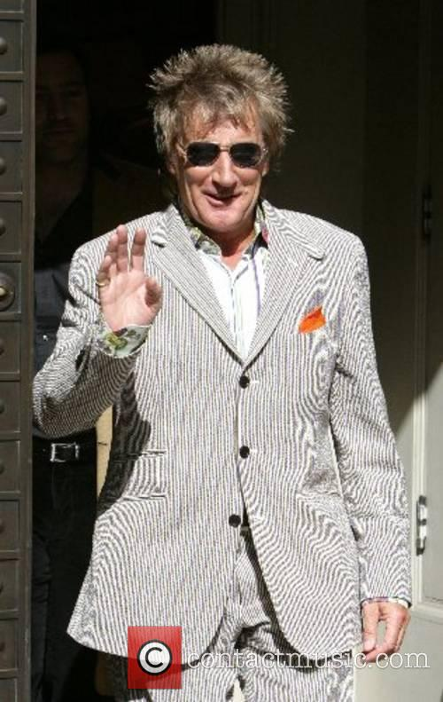 Rod Stewart  suit shopping at the Etro...