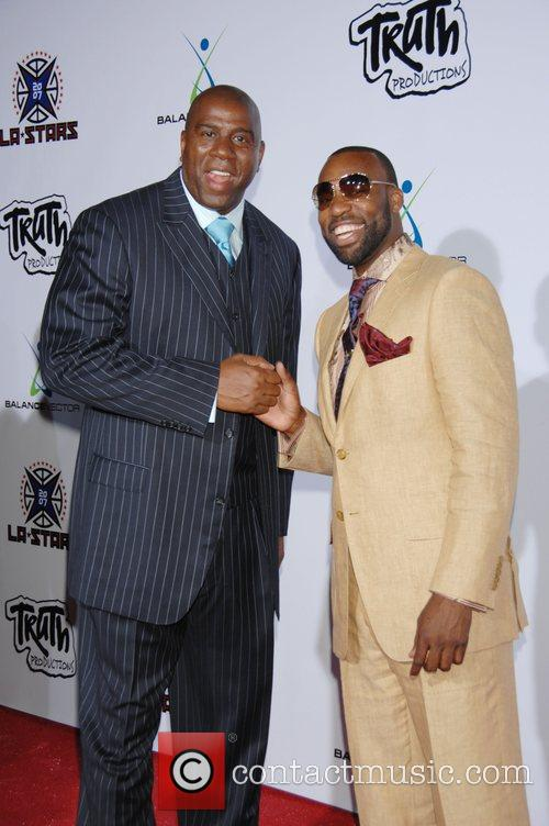 Magic Johnson and Nba Player Baron Davis 3