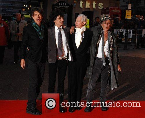 Ronnie Wood, Charlie Watts, Keith Richards, Martin Scorsese and Mick Jagger 1