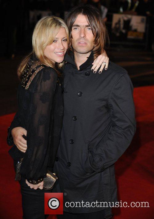 Liam Gallagher and Nicole Appleton at the premiere...