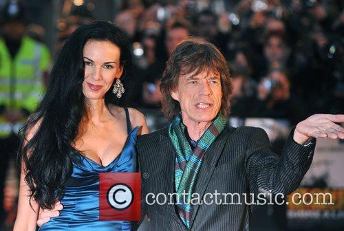 Mick Jagger, L'Wren Scott, Odeon Leicester Square