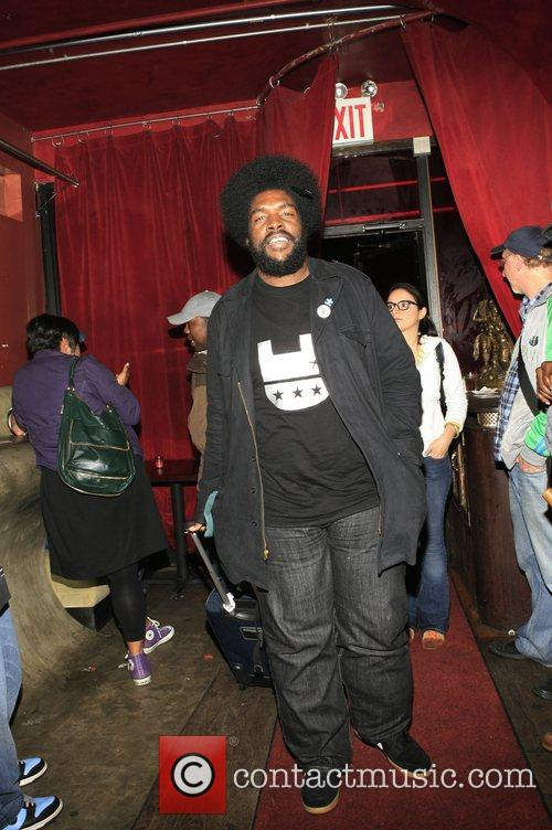 Amir Questlove at The Roots Album realease party...