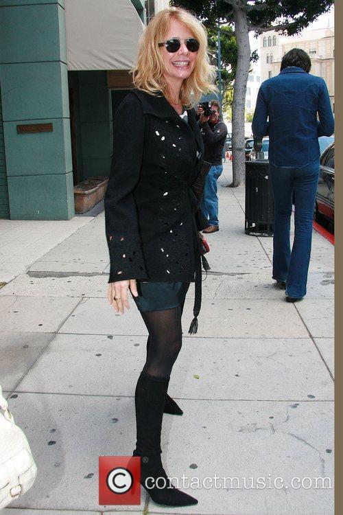 Rosanna Arquette leaving Mr Chow restaurant after having...