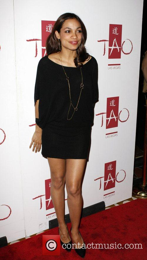 Rosario Dawson hosts the DVD release of 'Descent'...