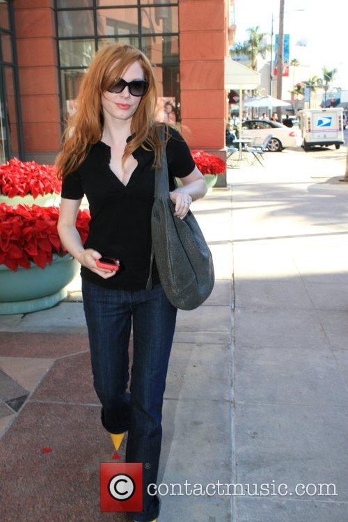 Out and about in Beverly Hills talking on...