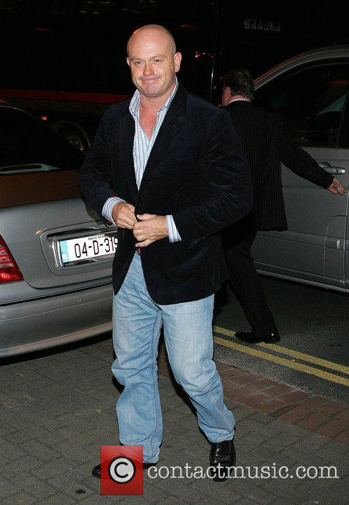 Ross Kemp leaving the RTE Studios after appearing...